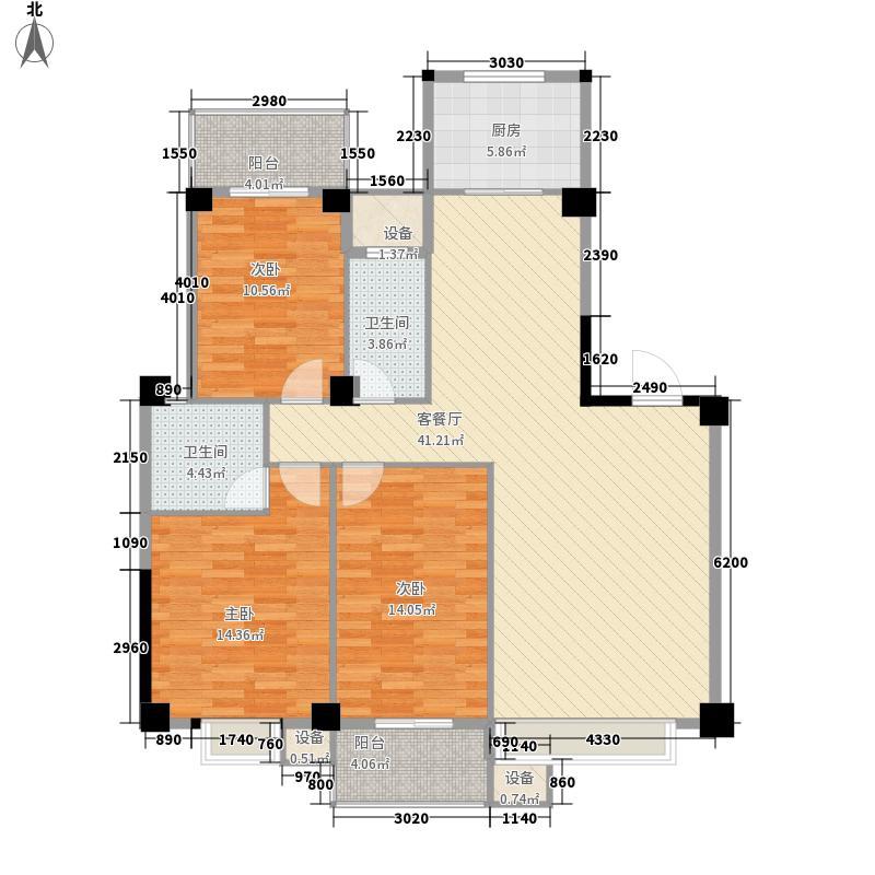 七里金虹湾123.20㎡6#、7#楼三单元1户型3室2厅2卫1厨