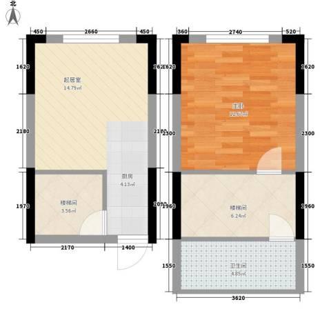 筑石银座1室0厅1卫0厨42.11㎡户型图