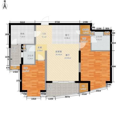 莱诗邸2室0厅2卫1厨134.00㎡户型图