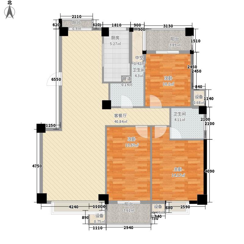 七里金虹湾125.87㎡6#、7#楼一单元2户型