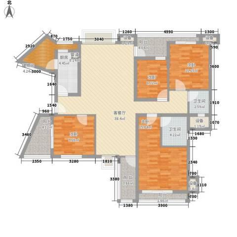 东泰花园康怡居4室1厅2卫1厨198.00㎡户型图