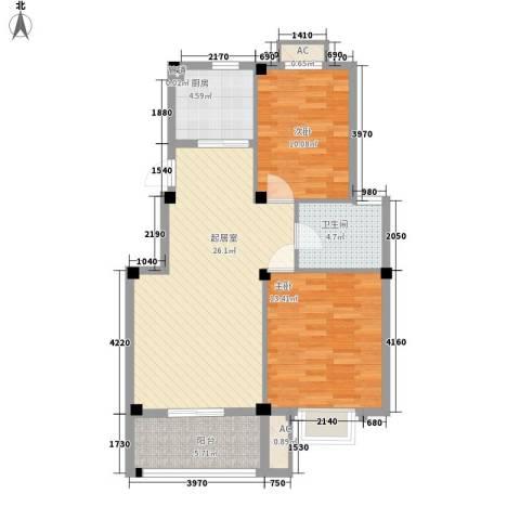 丽景花园2室0厅1卫1厨97.00㎡户型图