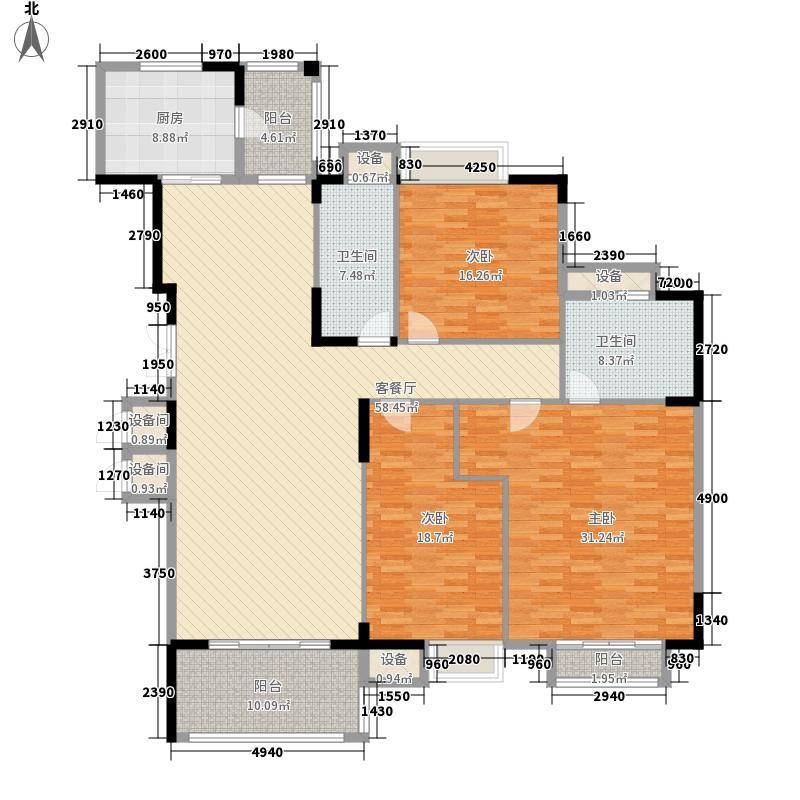 东泰花园康怡居238.00㎡东泰花园康怡居3室户型3室