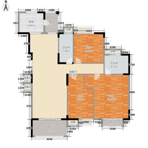 东泰花园康怡居3室1厅2卫1厨238.00㎡户型图