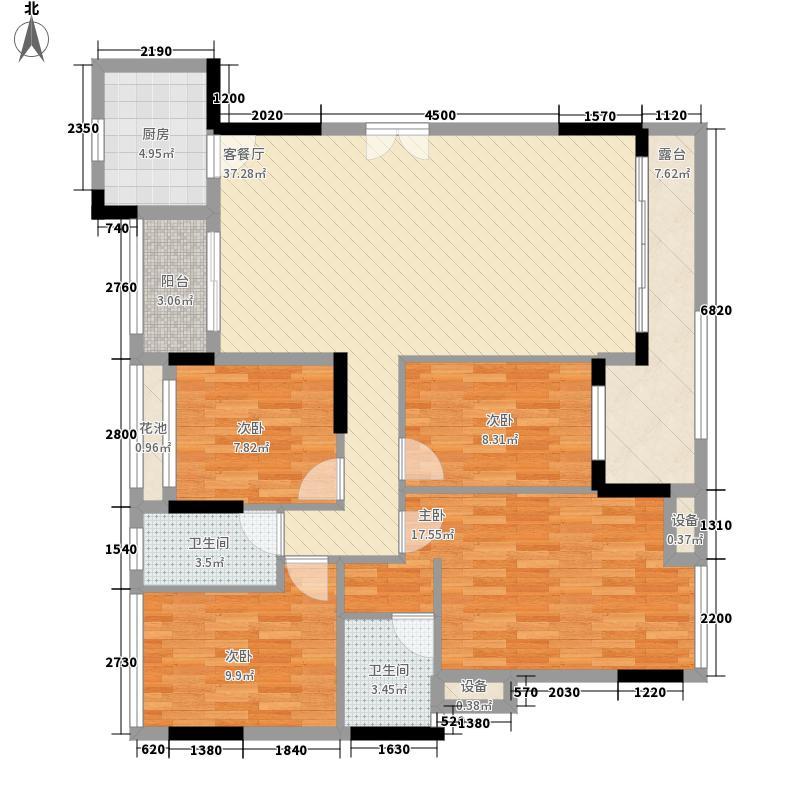 金地格林小城二期150.00㎡金地格林小城二期户型图格林小城二期户型图4室2厅2卫户型4室2厅2卫