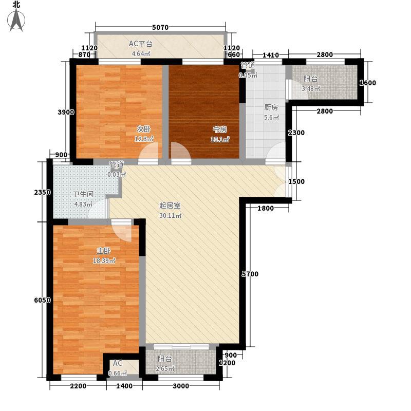 浦江御景湾120.58㎡浦江御景湾户型图C3户型3室2厅1卫1厨户型3室2厅1卫1厨
