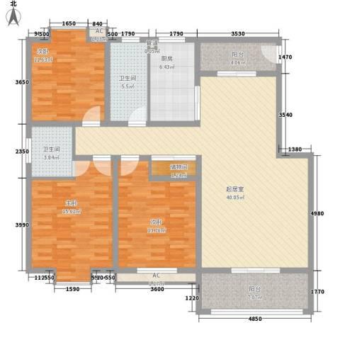 一品和�3室0厅2卫1厨110.75㎡户型图