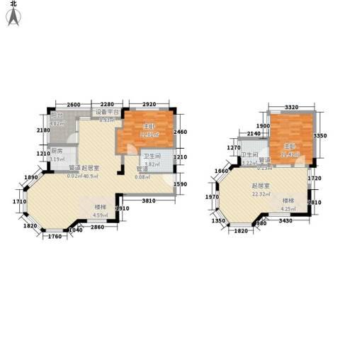 黄山纳尼亚小镇2室0厅2卫1厨140.00㎡户型图