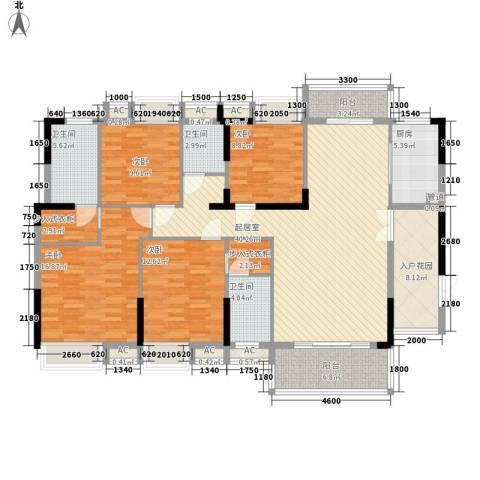 康怡花园4期4室0厅3卫1厨156.00㎡户型图