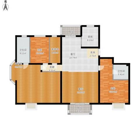2U・香花畦2室1厅2卫1厨235.00㎡户型图