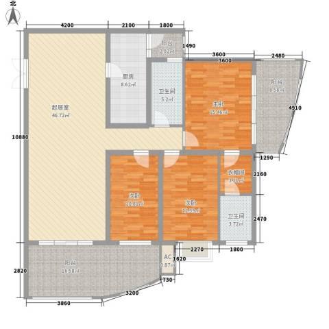 金阳乾图中心广场3室0厅2卫1厨189.00㎡户型图