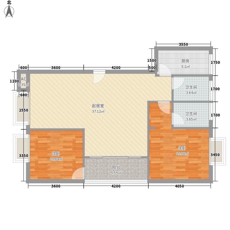 名门国际108.65㎡名门国际户型图1-1户型2室2厅2卫1厨户型2室2厅2卫1厨