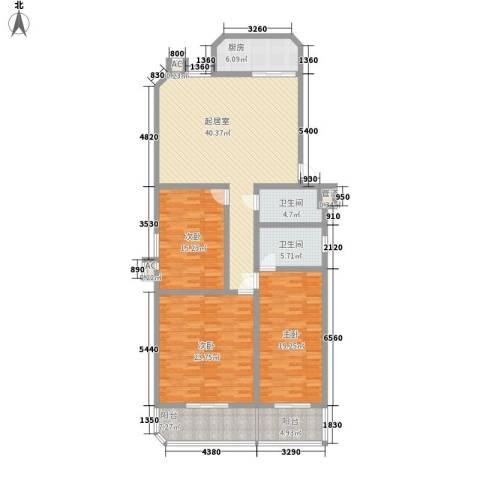 龙岱花园3室0厅2卫1厨182.00㎡户型图