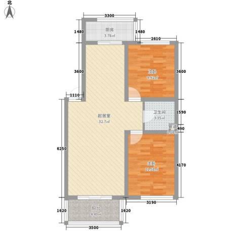 俪华精舍2室0厅1卫1厨91.00㎡户型图