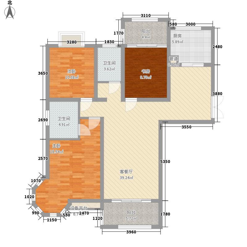 恒盛豪庭136.87㎡恒盛豪庭户型图B4#、B5#H6户型2室2厅2卫1厨户型2室2厅2卫1厨