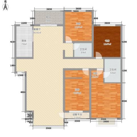 九合家园4室1厅2卫1厨205.00㎡户型图