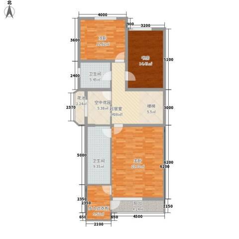 九合家园3室0厅2卫0厨141.00㎡户型图