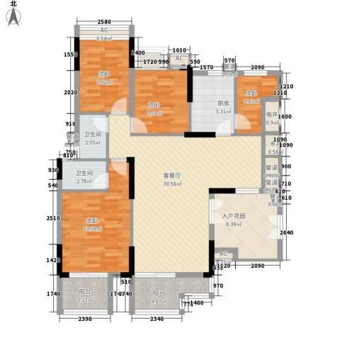 宏新华庭4室1厅2卫1厨137.00㎡户型图