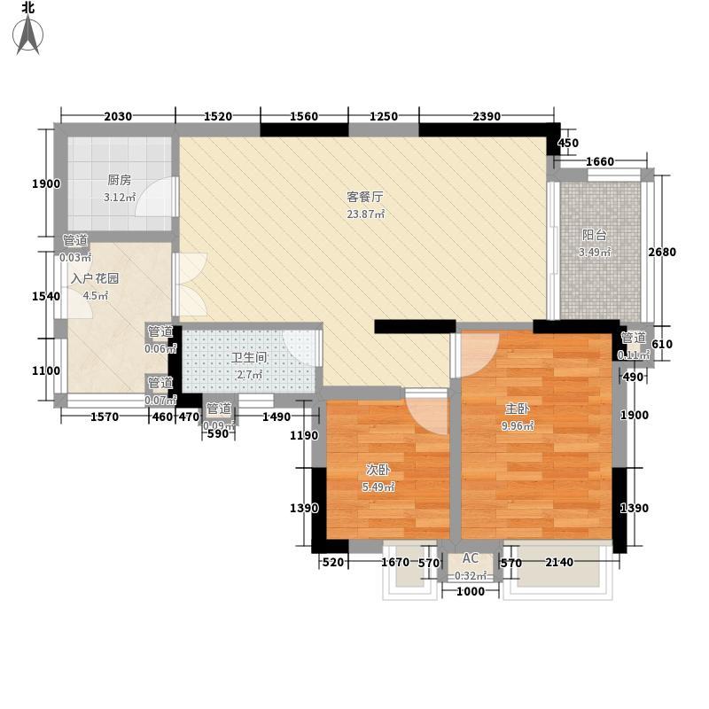 宏新华庭79.59㎡宏新华庭户型图B栋标准层07单元2室2厅1卫1厨户型2室2厅1卫1厨
