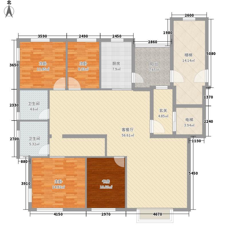 紫薇城市花园160.00㎡紫薇城市花园户型图4室2厅2卫户型4室2厅2卫