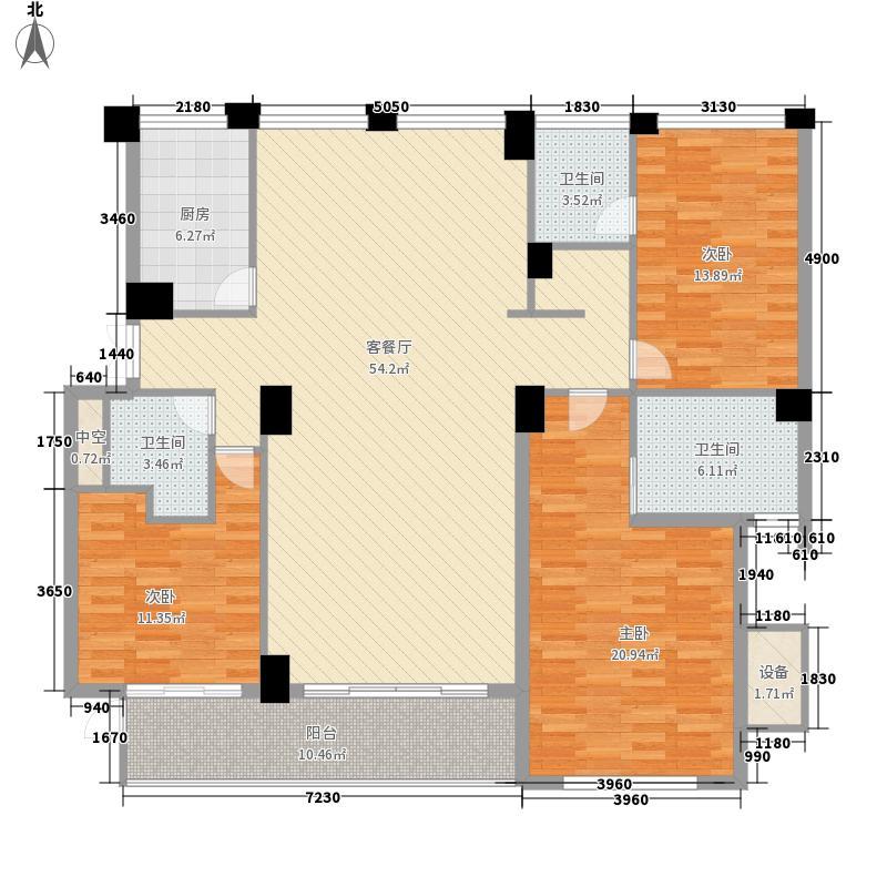 无锡世界贸易中心一期世贸公寓186.00㎡无锡世界贸易中心一期世贸公寓户型图b033室2厅3卫1厨户型3室2厅3卫1厨
