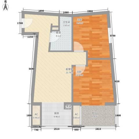 希尔斯联邦2室0厅1卫0厨76.00㎡户型图