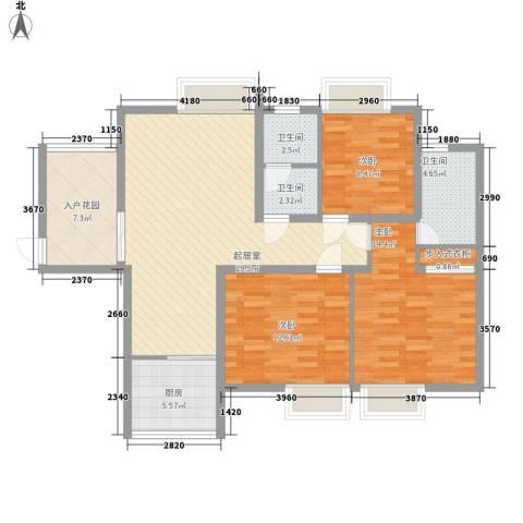 泰和御景豪庭3室0厅3卫1厨127.00㎡户型图