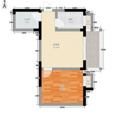 凤城明珠1室0厅1卫1厨50.00㎡户型图