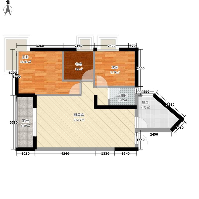 丰湖花园82.54㎡丰湖花园户型图丰盛人生3室2厅1卫1厨户型3室2厅1卫1厨