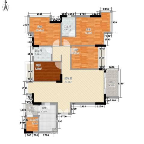 金地格林小城二期4室0厅2卫1厨143.00㎡户型图