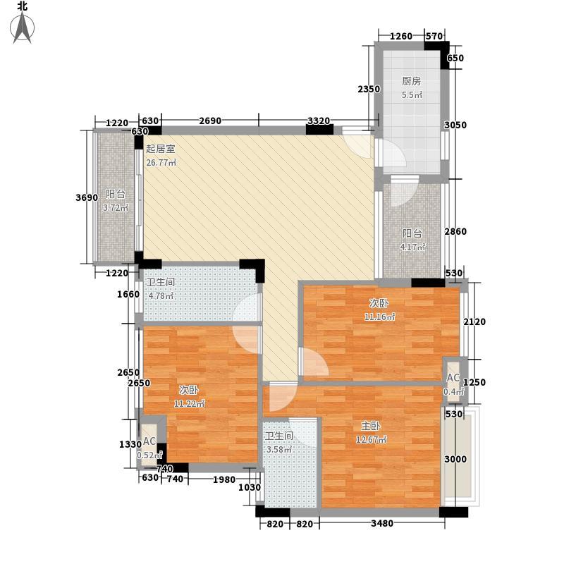 金地格林小城二期120.00㎡金地格林小城二期户型图格林小城二期户型图3室2厅2卫户型3室2厅2卫