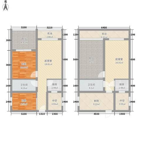 隆鑫诺亚方舟2室0厅2卫2厨111.17㎡户型图