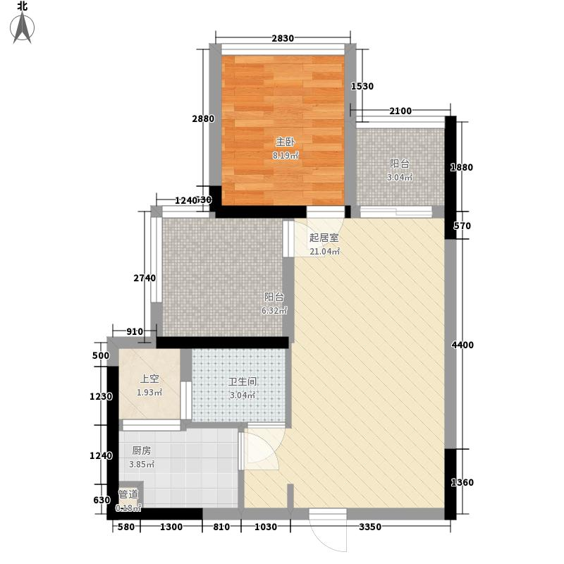 华盛君荟名庭华盛君荟名庭户型图1栋jg单元1室2厅1卫1厨户型1室2厅1卫1厨