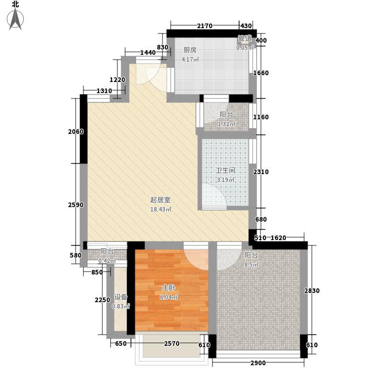 华盛君荟名庭华盛君荟名庭户型图2栋b单元1室2厅1卫1厨户型1室2厅1卫1厨