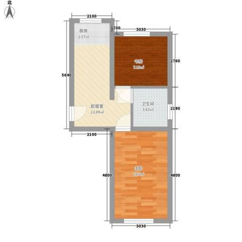金石小区2室0厅1卫0厨41.32㎡户型图
