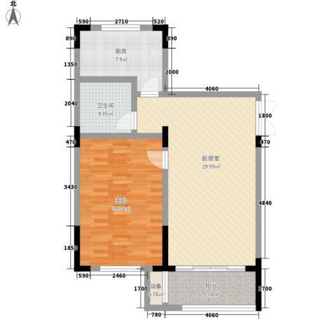 乐客来国际商业中心1室0厅1卫1厨79.00㎡户型图