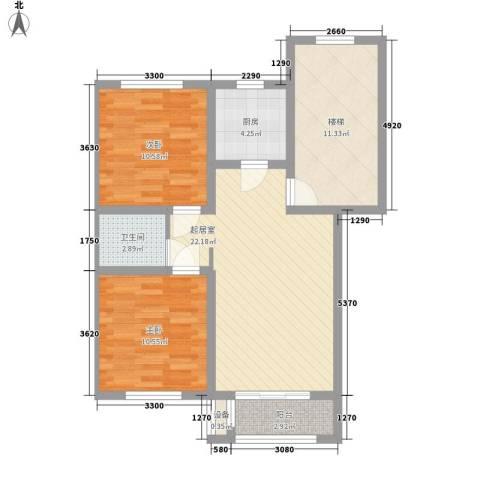 艾博龙园2室0厅1卫1厨72.00㎡户型图