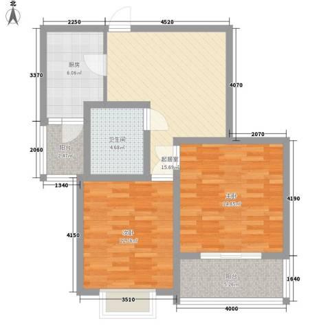 金花园2室0厅1卫1厨90.00㎡户型图