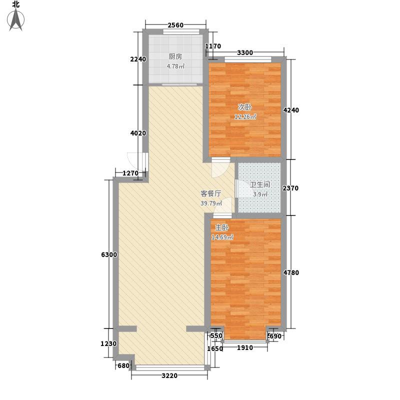 西城阳光96.79㎡西城阳光户型图I户型2室2厅1卫1厨户型2室2厅1卫1厨