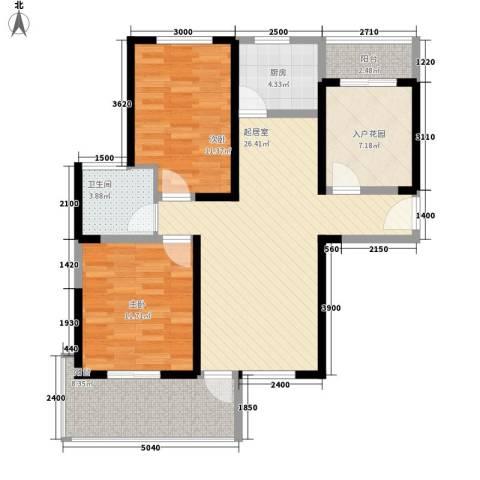 华邦世贸城2室0厅1卫1厨95.00㎡户型图