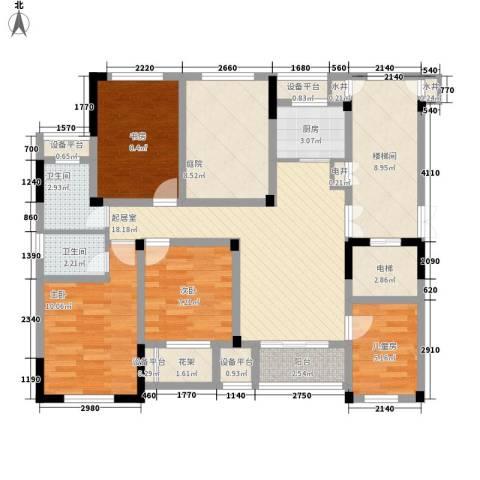 金色城邦4室0厅2卫1厨127.00㎡户型图