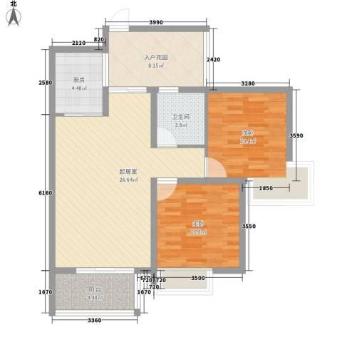 泰和御景豪庭2室0厅1卫1厨100.00㎡户型图