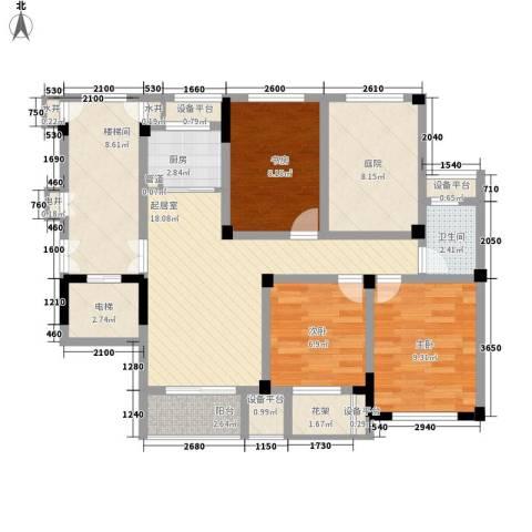 金色城邦3室0厅1卫1厨112.00㎡户型图