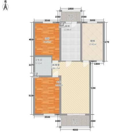 航萃园二期2室0厅1卫1厨108.00㎡户型图