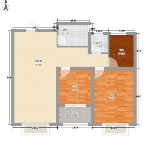 海源丽都3室0厅1卫1厨70.73㎡户型图