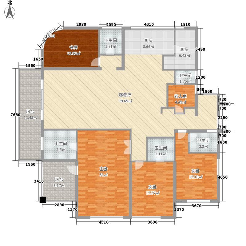 无锡世界贸易中心一期世贸公寓287.00㎡无锡世界贸易中心一期世贸公寓户型图c034室3厅4卫1厨户型4室3厅4卫1厨