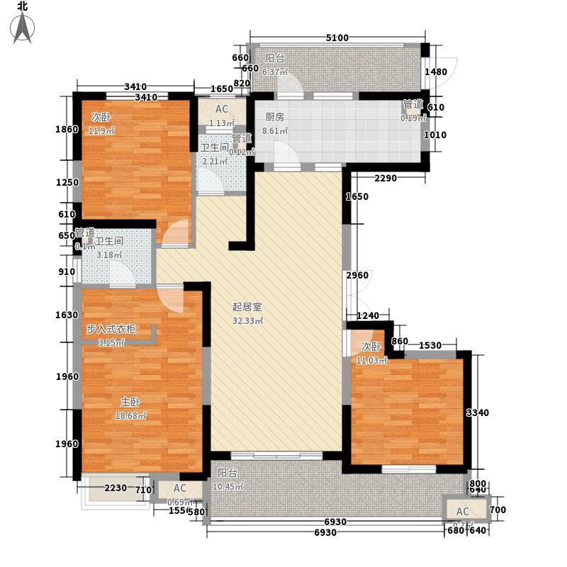 建业龙城154.50㎡16#1单元01户型3室2厅2卫1厨