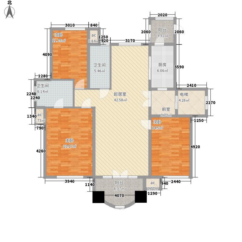 上河城155.00㎡上河城户型图A5户型3室2厅2卫1厨户型3室2厅2卫1厨