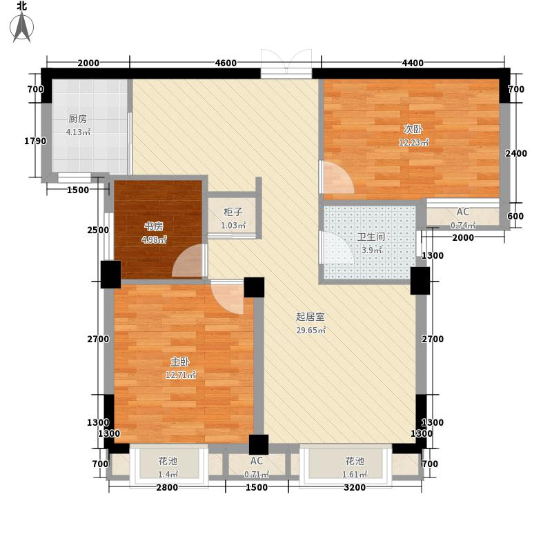 亚欧国际风情街7.00㎡户型3室2厅1卫1厨