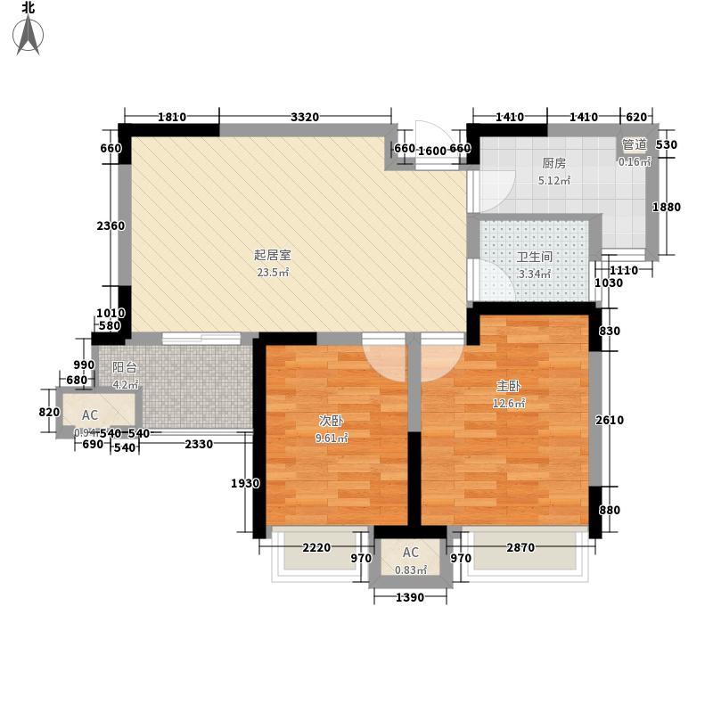 建业龙城87.68㎡13#1单元02户型2室2厅1卫1厨